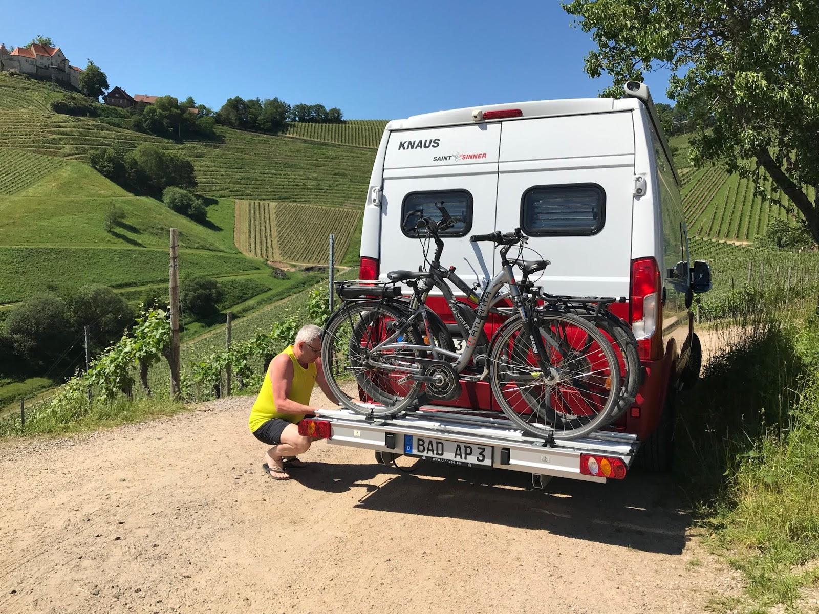 E-Bikes einfach am Kastenwagen transportieren